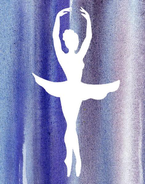 Girly Painting - Ballerina Silhouette Swan Lake by Irina Sztukowski