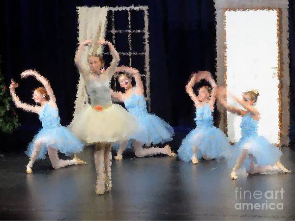 Photograph - Ballerinas Dancing by Donna Cavanaugh