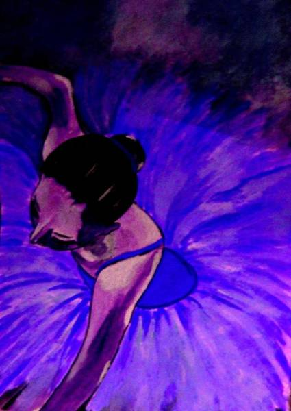 Painting - Ballerine Bleu by Rusty Gladdish