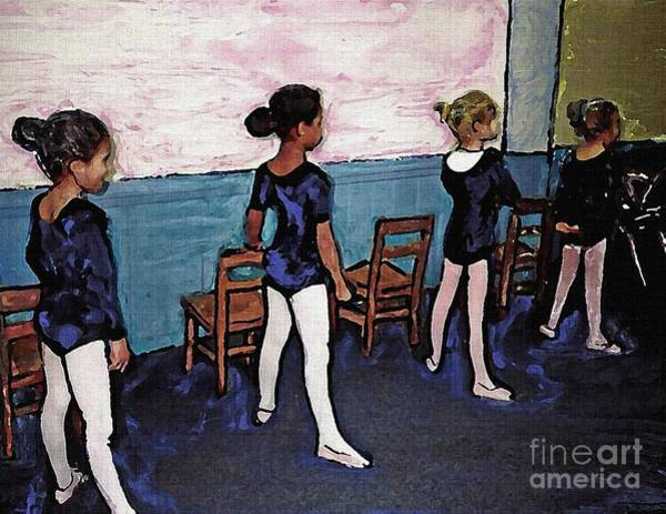Colored Pencils Mixed Media - Ballet Class by Sarah Loft
