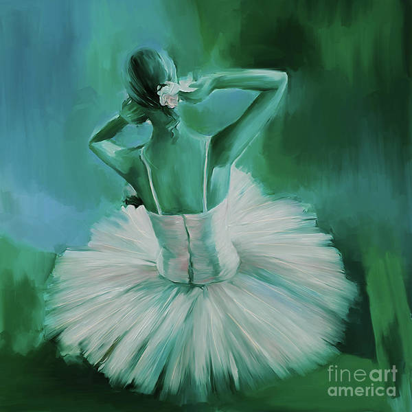 Latino Painting - Ballet Dance 044ec by Gull G