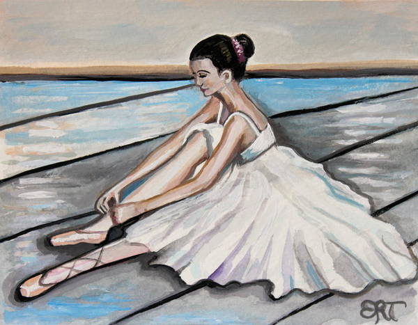 Painting - Ballet Rehearsal by Elizabeth Robinette Tyndall