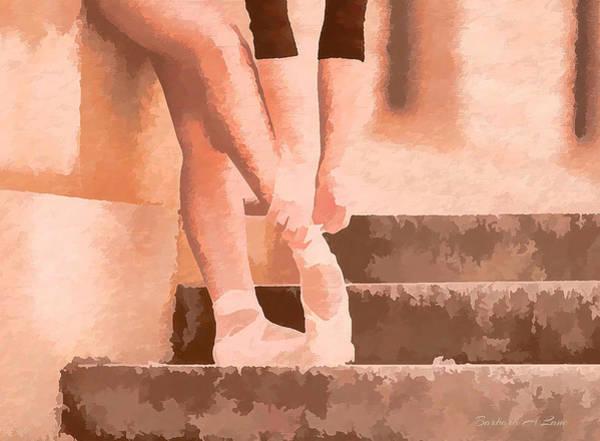 Digital Art - Ballet Shoes by Barbara A Lane