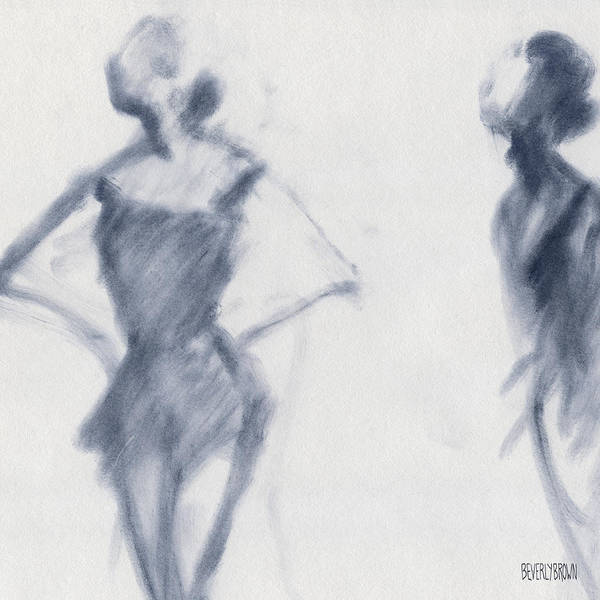 Drawing - Ballet Sketch Hands On Hips by Beverly Brown