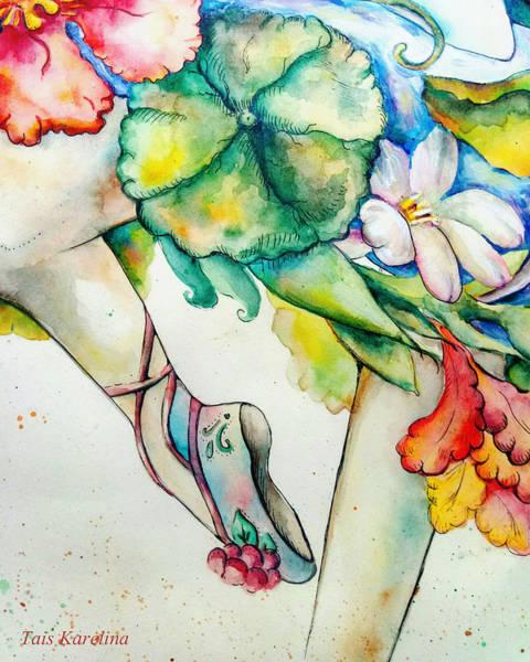 Floral Watercolor Drawing - Ballet by Tais Karelina