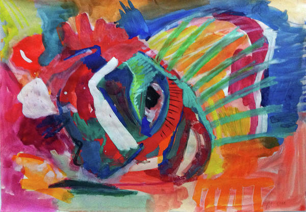 Painting - Ballfish by Annette Kunow
