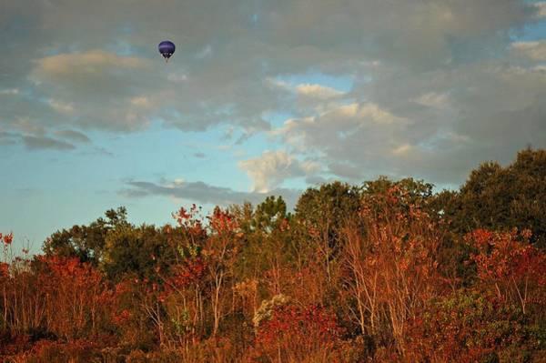 Pea Digital Art - Ballon Over Burning Trees by Michael Thomas