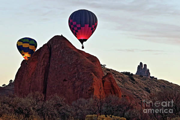 Wall Art - Photograph - Balloons At Dawn by Rick Mann