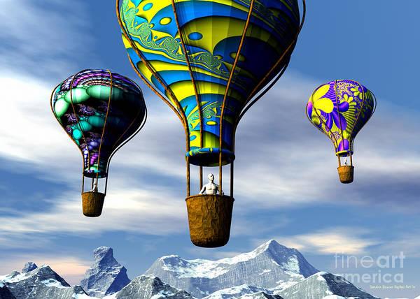 Digital Art - Balloon Adventure by Sandra Bauser Digital Art