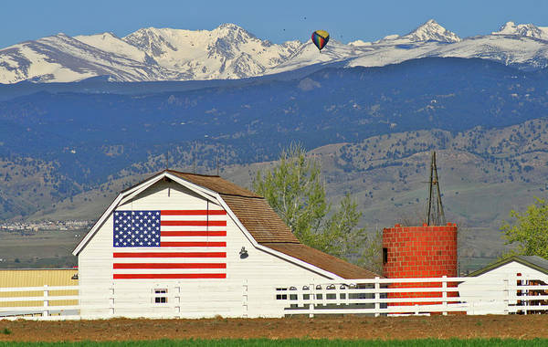Wall Art - Photograph - Balloon Barn And Mountains by Scott Mahon