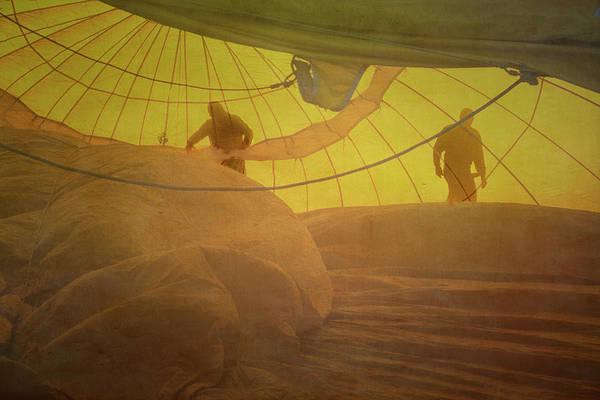 Photograph - Balloon Crew by Tom Singleton