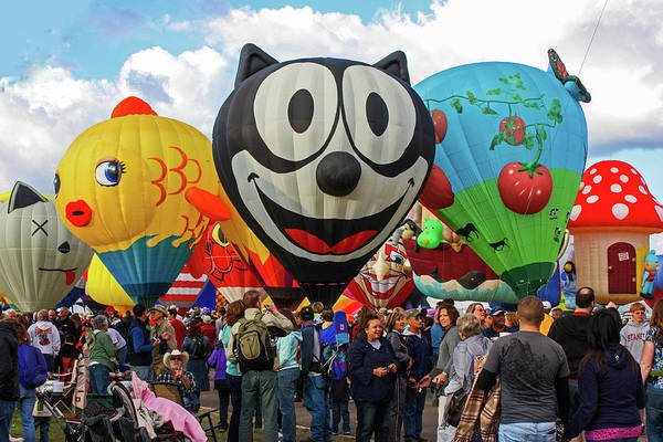 Photograph - Balloon Fiesta Albuquerque II by Lon Dittrick
