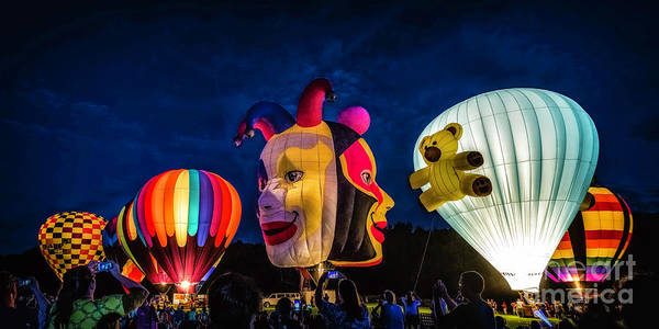 Photograph - Balloon Glow by Nick Zelinsky