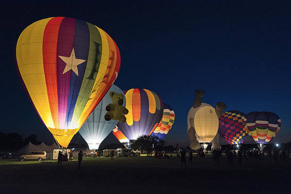 Balloon Festival Photograph - Balloon Glow by Robert Fawcett