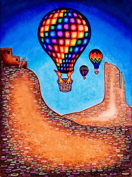 Drawing - Balloon Kats by Laurie Tietjen
