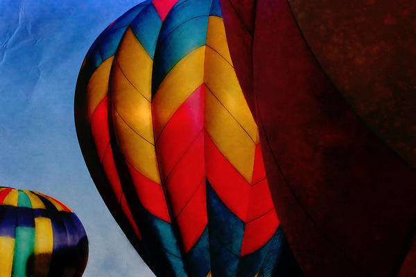 Balloon Festival Digital Art - Balloon Launch by Betsy Baldwin-Owens