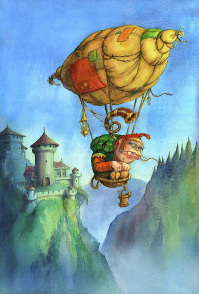 Wall Art - Painting - Balloon Ogre by Andy Catling