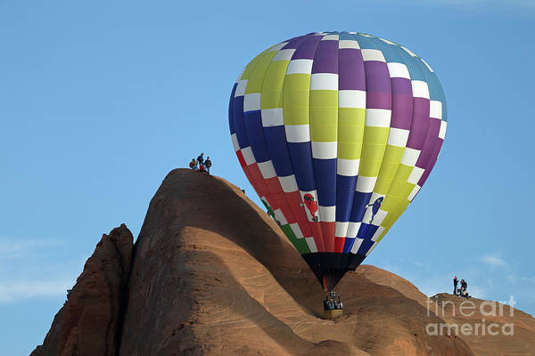 Wall Art - Photograph - Balloon On A Rock by Rick Mann