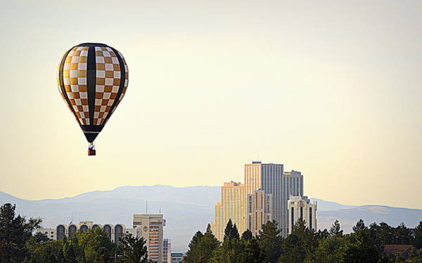 Photograph - Balloon Over Reno by AJ Schibig