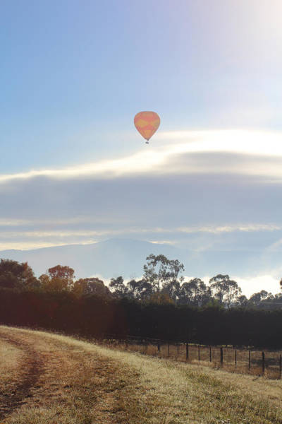 Photograph - Balloon Over Yarra Glen 29-03-2015 by Bert Ernie