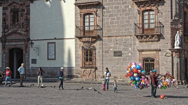 Photograph - Balloon Seller, San Miguel 2014 by Chris Honeyman