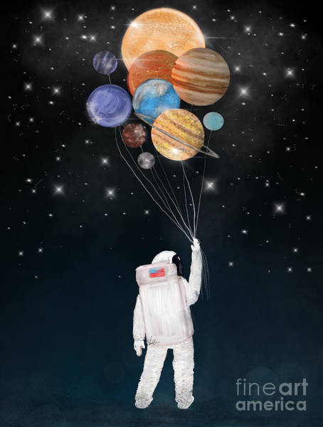 T-shirts Painting - Balloon Universe by Bri Buckley