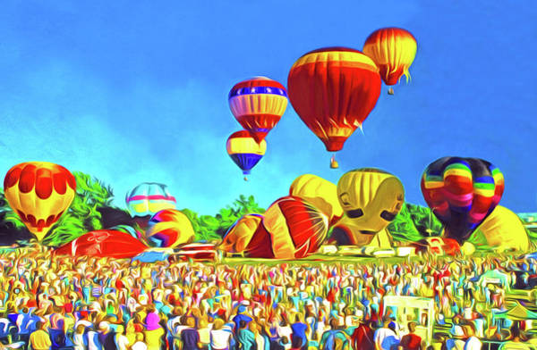 Balloon Festival Digital Art - Balloonfest by Dennis Cox