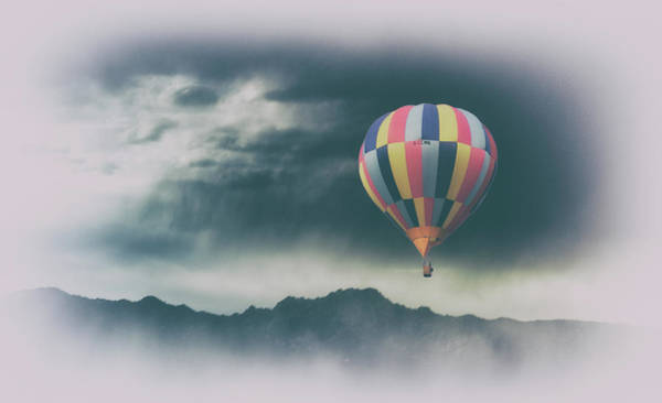 English Countryside Photograph - Ballooning Into The Storm by Martin Newman