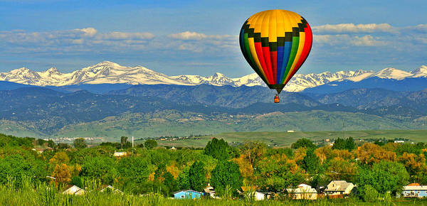 Hot Air Balloons Photograph - Ballooning Over The Rockies by Scott Mahon