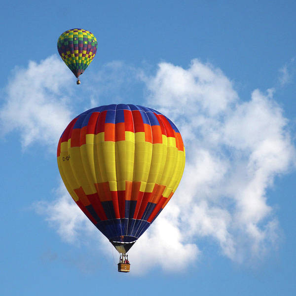 Photograph - Balloons In The Cloud by Marie Leslie