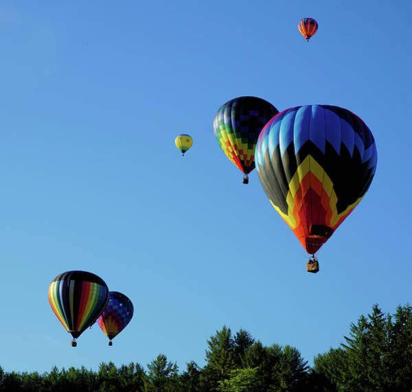 Balloon Festival Digital Art - Balloons In The Sky by Lilia D