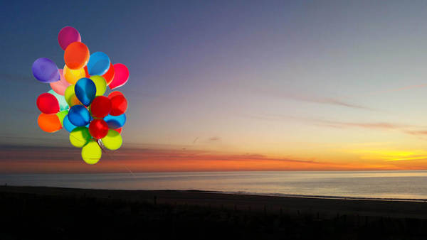 Photograph - Balloons Over Oc by Robert Banach