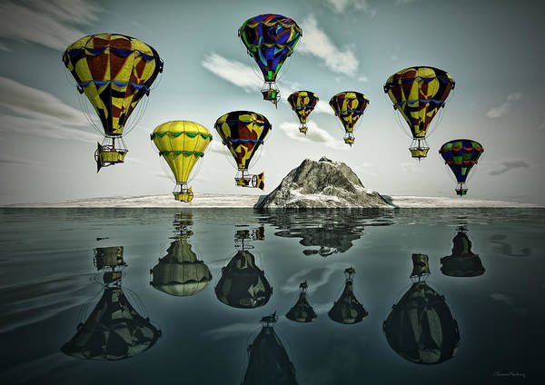 Wall Art - Digital Art - Balloons by Ramon Martinez