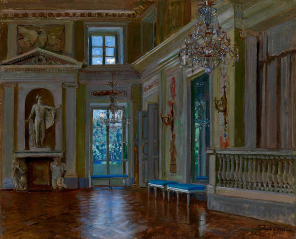 Russian Impressionism Wall Art - Painting - Ballroom Of The Lazienki Palace by Stanislav Zhukovsky
