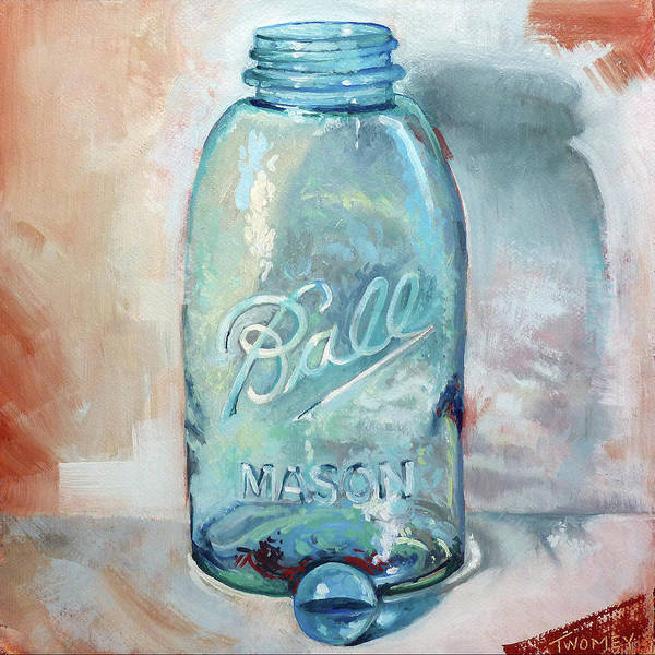 Alla Prima Painting - Balls Of Glass by Catherine Twomey