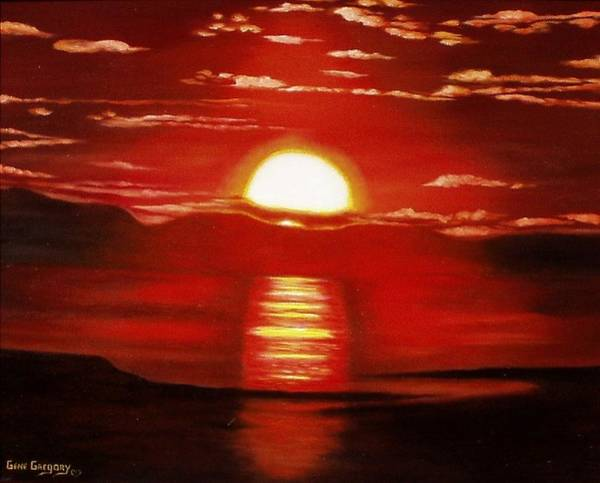 Painting - Ballycastle Sunset by Gene Gregory