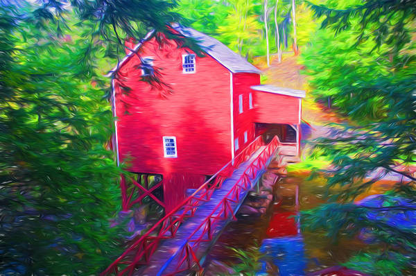 Millrace Wall Art - Photograph - Balmoral Grist Mill Museum by Ginger Wakem