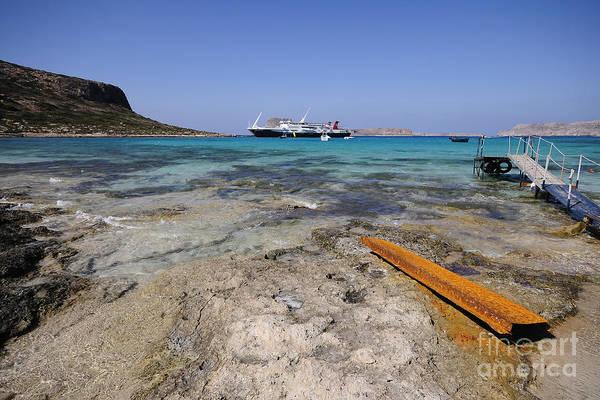 Greek Photograph - Balos Beach by Smart Aviation