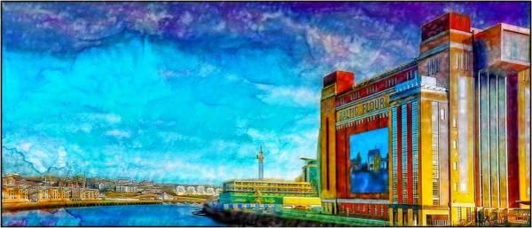 Newcastle Digital Art - Baltic by John Lynch