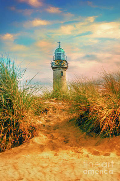 Photograph - Baltic Sea - Lighthouse Warnemuende by ARTSHOT - Photographic Art