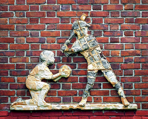 Photograph - Baltimore Baseball Catcher And Batter by Bill Swartwout Photography