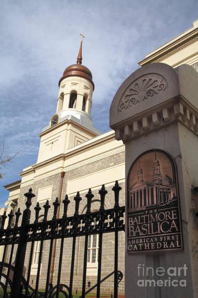 Photograph - Baltimore Basilica by William Kuta