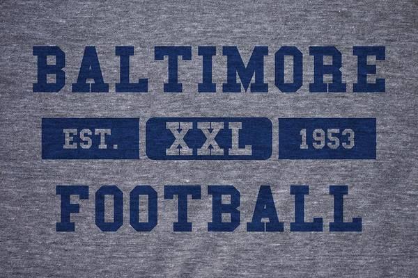 Baltimore Colts Photograph - Baltimore Colts Retro Shirt by Joe Hamilton