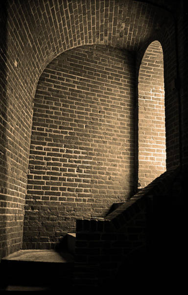 Photograph - Baltimore - Dark Brick Passageway 2003 Sepia by Frank Romeo