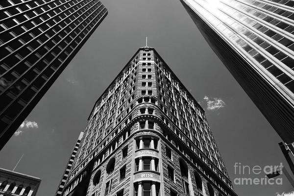 Photograph - Baltimore Fidelity Building In Monochrome by James Brunker