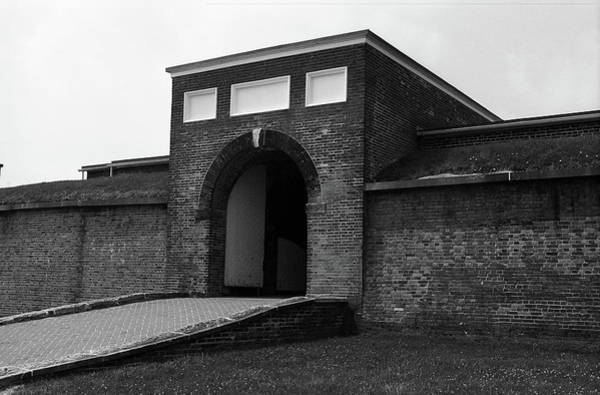 Photograph - Baltimore - Fort Mchenry Entrance Bw 2003 by Frank Romeo