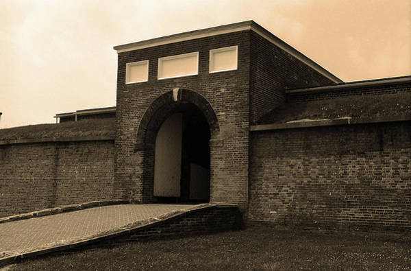 Photograph - Baltimore - Fort Mchenry Entrance Sepia 2003 by Frank Romeo