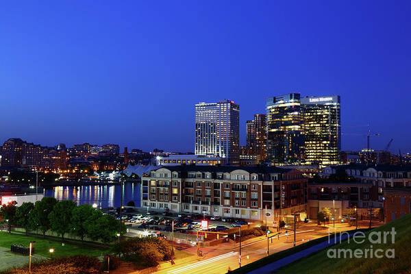 Photograph - Baltimore Harbor East District At Twilight by James Brunker