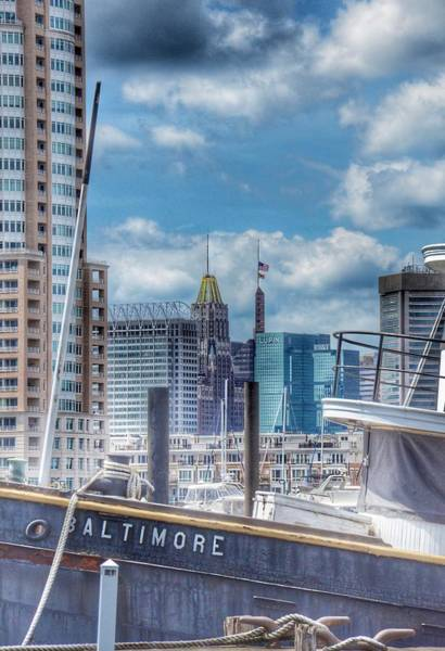 Photograph - Baltimore Harbor Landscape  by Marianna Mills
