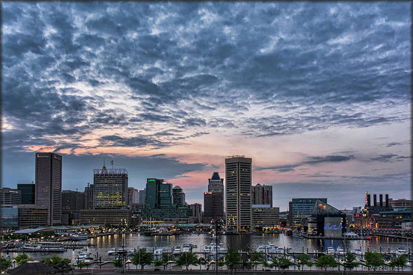Photograph - Baltimore Harbor Sunset by Erika Fawcett